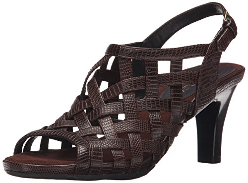 Aerosoles Women's Cowrote Dress Sandal, Brown Snake, 9 M US