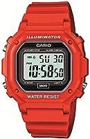 [カシオ]CASIO 腕時計 スタンダード デジタル表示 レッド×ブラック F-108WHC-4AJF メンズ
