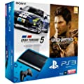 Console PS3 Ultra slim 500 Go noire + Gran Turismo 5 - �dition academy + Uncharted 3 : l'illusion de Drake - �dition jeu de l'ann�e