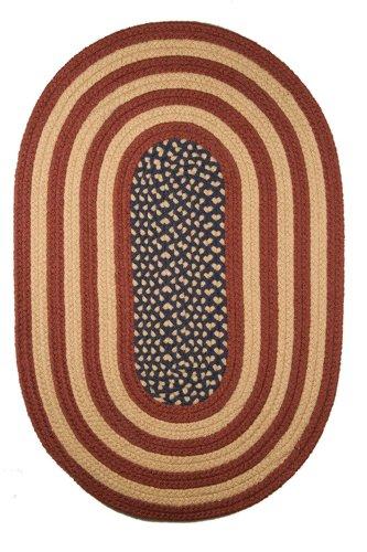 7' x 9' Rustic Flag Braided Rug