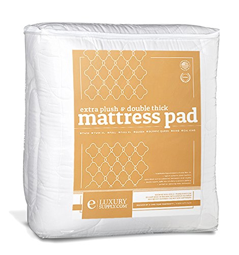 Mattress Pad With Fitted Skirt Double Thick Extra Plush