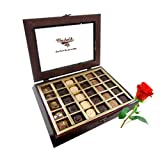 Great Assorted Collection Gift Box With Red Rose - Chocholik Belgium Chocolates