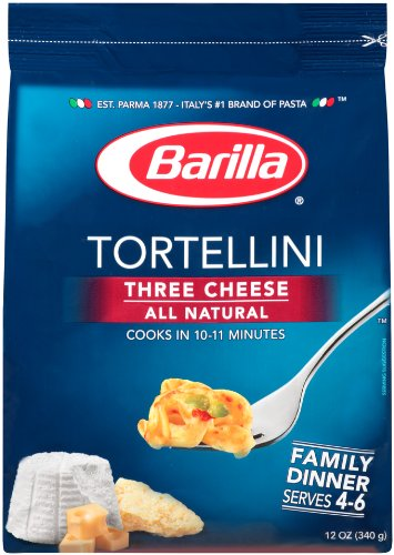 Barilla Three Cheese Tortellini, Family, 12 oz (Pack of 4)