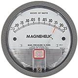 Dwyer Magnehelic Series 2000 Differential Pressure Gauge, Range 0.25-0-0.25