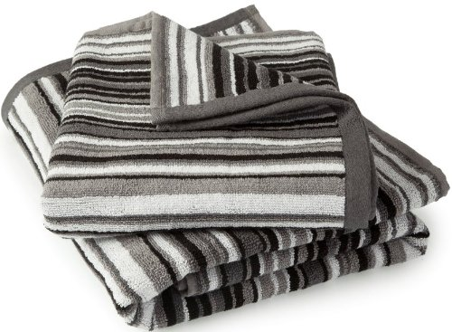 Candy Stripes Black White Grey Soft Cotton Luxury Bathroom Towel Set Hallways ®