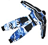 Wulfsport Wulf Cub Kids Quad Overall Racing Jump Suit Camo Design (Junior Medium 7-8 Years, Blue Camo)