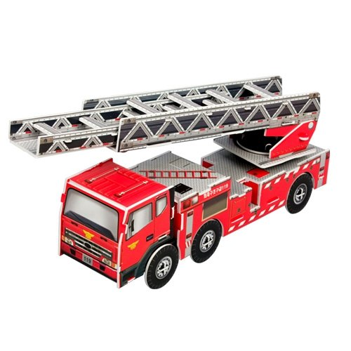 Jigsaw 3D Puzzle Transportation - Fire Truck (Ladder lift truck)