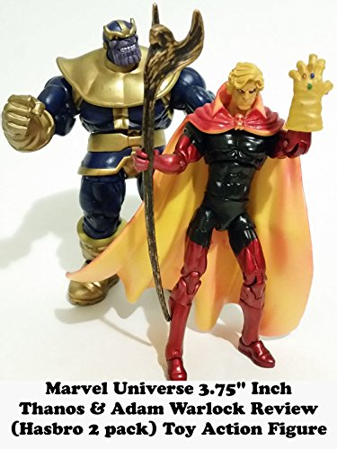 "Marvel Universe 3.75"" Inch THANOS & ADAM WARLOCK review (2 pack hasbro) toy action figure"