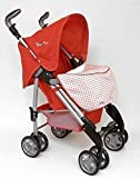 Silver Cross 3D Dolls Pushchair (Domino Red Fabric)