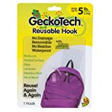 GeckoTech 282314 Reusable Hook with Microsuction Technology, 5-Pound, 1-Pack