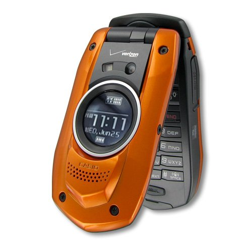 Casio G'Zone Boulder For Verizon Wireless (Orange) Front Speaker - Camera - Rugged - Water Resistant