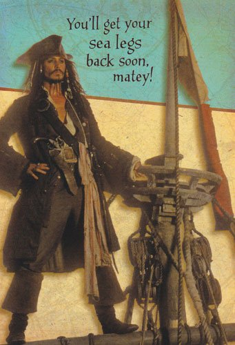 Get Well Card Pirates of the Carribbean Dead