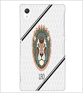PrintDhaba Zodiac Leo D-4793 Back Case Cover for SONY XPERIA Z2 (Multi-Coloured)