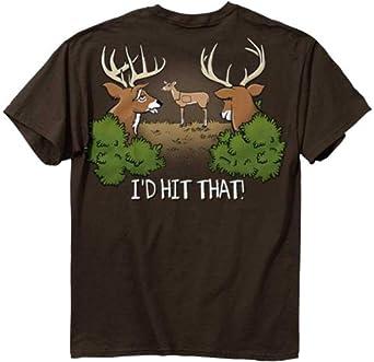 Deer Hunting T-shirt I'd Hit That Funny Buck Tee-xxxl
