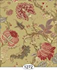 Itsy Bitsy Mini: Dollhouse Miniature Wallpaper - Bountiful Flora - Yellow (Quarter Inch Scale)