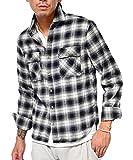 ジョーカーセレクト(JOKER Select) ネルシャツ メンズ 長袖 シャツ 長袖シャツ チェックシャツ カジュアル フランネル チェックシャツ レディース M C柄(10)
