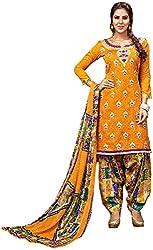 Begum Riwaaz Women's Georgette Unstitched Dress Material (18002B, Yellow)
