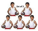 Pushpak Readymades Kids Sleeveless Vests Banians (Pack Of 5)