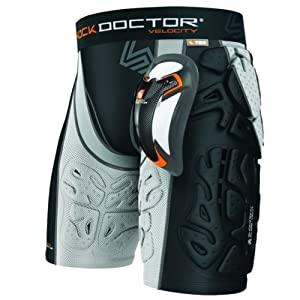 Shock Doctor Velocity Shockskin MMA 6-Pad Short w  Ultra Carbon Flex Cup by Shock Doctor