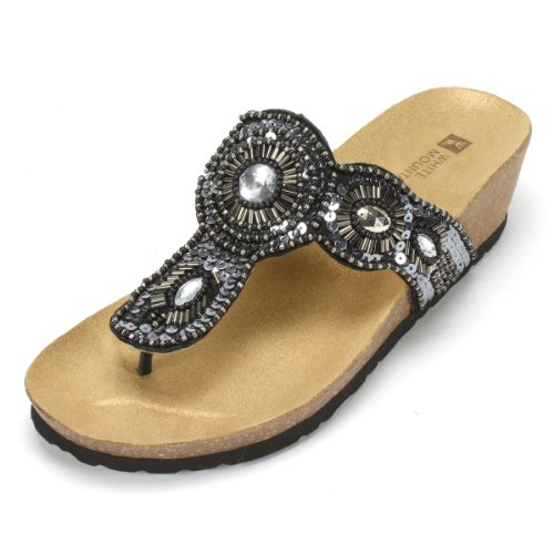White Womens Blast Thong Sandal