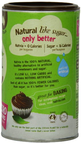 Natvia 100% Natural Sweetener, Canister, 7 Ounce