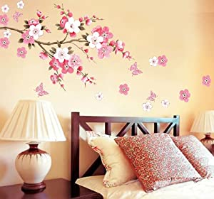 Rainbow Wall-stickers Wall Decor Removable Decal Sticker - Cherry Blossoms and Butterflies from Wall decor