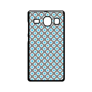 Vibhar printed case back cover for Samsung Galaxy A3 BlueGreyDots