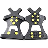 Estone New Snow Ice Climbing Anti Slip Spikes Grips Crampon Cleats 10-Stud Shoes Cover