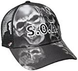 Sons of Anarchy Men's Sublimated Skulls Soa Trucker, Black, One Size
