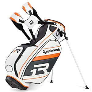 TaylorMade Apollo TMX Stand Bag, White Gray Orange by TaylorMade
