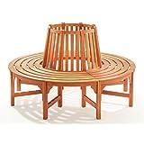 baumbank rundbank 160 59. Black Bedroom Furniture Sets. Home Design Ideas