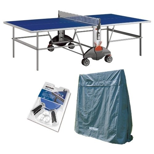 Best Price Kettler Champ 3.0 Outdoor Table Tennis Table with Outdoor Accessory Bundle