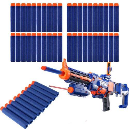 imbs-50-x-foam-nerf-blaster-elite-refill-bullets-flexible-soft-fun-darts-for-toy-gun-blaster-in-blue