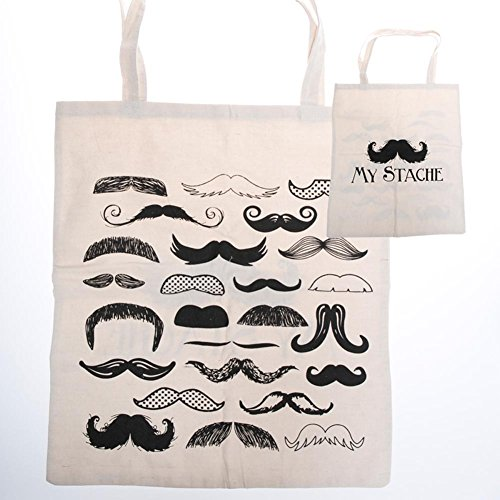 "Large ""My Stache"" Tote Bag by Century Novelty - 1"