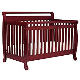 DaVinci Emily 4-in-1 Convertible Crib with Toddler Rail - Cherry