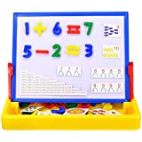 Wishtime Deluxe Magnetic Numbers Tabletop Easel Board Toddler Toys (2 Functions)