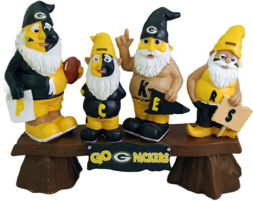 Green Bay Packers Gnome Fan Bench