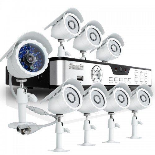 Cheap Zmodo KDB8-BARBZ8ZN-500GB 8CH H.264 DVR with 500GB HDD & 8 CMOS 480TVL 65ft IR Outdoor Sec...