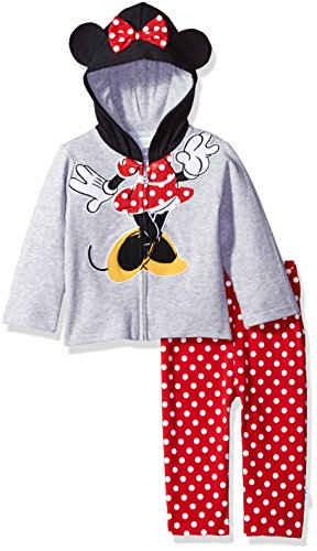 Disney Baby Girls' Minnie Mouse Costume Hoodie and Pant Set, Grey, 18m