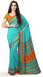 Design Willa Smooth feel Art crepe Sari (DWPC010,Blue)
