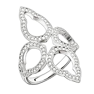 Thomas Sabo Sterling Silver Glam & Soul Ring, Size 54