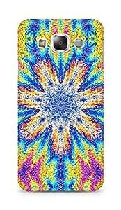Amez designer printed 3d premium high quality back case cover for Samsung Galaxy E5 (Flower graphic vivid multi colored)