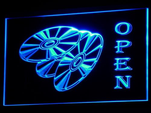 Adv Pro I143-B Open Dvd Blu Ray Movie Disc Led Light Sign