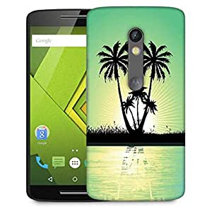 Snoogg abstract tropical background Designer Protective Back Case Cover For Motorola Moto G4