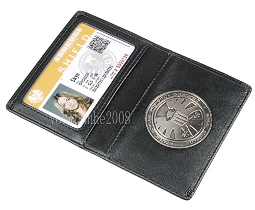 The Avengers Agents of Shield Distintivo Scudo A Supporto Card Wallet Pelle (Skye)
