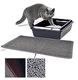 Vorleger aus PVC für Katzentoiletten - Katzenklo Fußmatte für Katzen 40 x 60 cm Grau