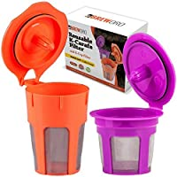 K Carafe Reusable Coffee Filter and Refillable K Cup by BrewOro for Keurig 2.0 K200 K300 K400 K500 Series