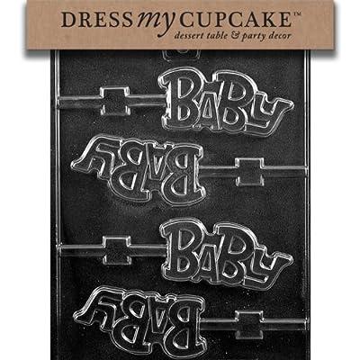 Dress My Cupcake Chocolate Candy Mold, Baby Lollipop, Baby Shower