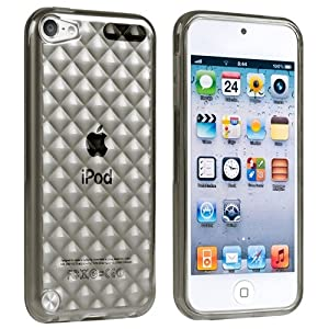 eForCity TPU Rubber Case Compatible with Apple® iPod touch® 5th Generation, Clear Smoke Diamond