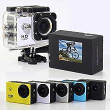 Videocámara de Acción - 12MP, HD, 1080P, Gran Angular, Sumergible hasta 30m, Incluye múltiples accesorios (Color Blanco)